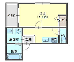 EST金下[2階]の間取り