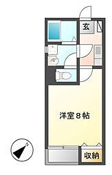 クレフラスト黄金 A棟[2階]の間取り