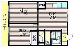 荒井第一マンション[1階]の間取り