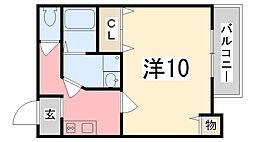 プチカントリービルヒラタ[102号室]の間取り