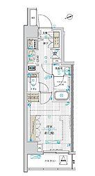 東京メトロ東西線 南砂町駅 徒歩10分の賃貸マンション 9階1Kの間取り
