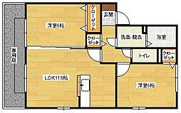 広島県広島市安佐南区緑井7丁目の賃貸アパートの間取り