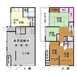 [一戸建] 東京都足立区梅田1丁目 の賃貸【/】の間取り