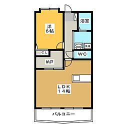 秋桜館・西原[3階]の間取り