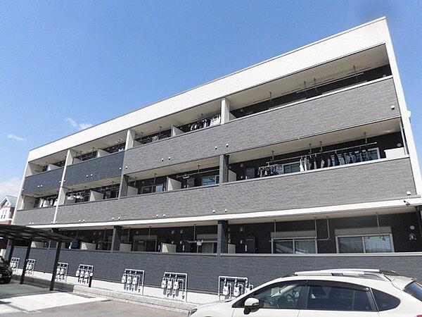 京都府長岡京市下海印寺伊賀寺の賃貸アパートの外観