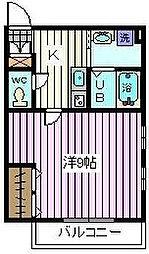 Bonheur中浦和[1階]の間取り