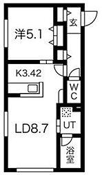 バイオレットヴィラ[2階]の間取り