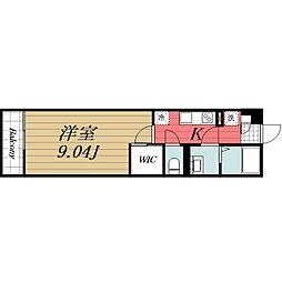 JR内房線 八幡宿駅 徒歩3分の賃貸マンション 1階1Kの間取り