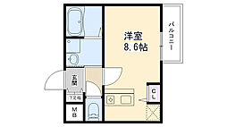 兵庫県西宮市今津社前町の賃貸アパートの間取り