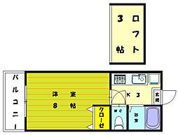 梶原コーポ2[1階]の間取り