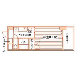 松井ビル[502号室]の間取り