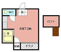 エルアビオン本城東[201号室]の間取り