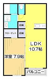 埼玉県志木市幸町3丁目の賃貸アパートの間取り
