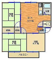 芳栄ハイツII[3DK号室]の間取り