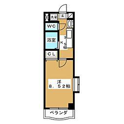 カリンマンション[5階]の間取り