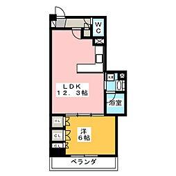 静岡馬渕エンブルコート[3階]の間取り