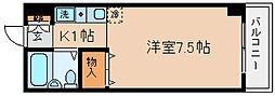 兵庫県神戸市長田区西山町3丁目の賃貸マンションの間取り