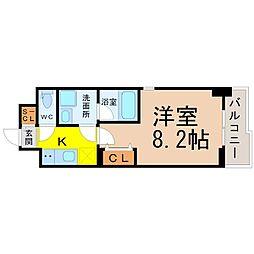 愛知県名古屋市瑞穂区高辻町の賃貸マンションの間取り
