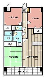 ミラドールF[702号室]の間取り