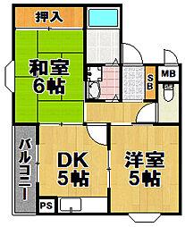サンハイツ小松[2階]の間取り