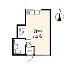 アパートメント 12[105号室]の間取り