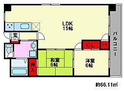 サンコーポタカキ[2階]の間取り