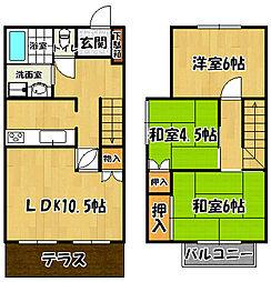 [テラスハウス] 兵庫県神戸市西区大津和2丁目 の賃貸【/】の間取り