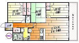 ジオ彩都のぞみ丘A棟[14階]の間取り