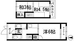 [テラスハウス] 兵庫県川西市加茂1丁目 の賃貸【/】の間取り