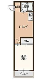 アクティコート[4B号室]の間取り