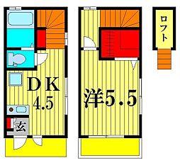 [テラスハウス] 千葉県松戸市栄町2丁目 の賃貸【千葉県 / 松戸市】の間取り