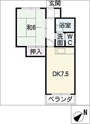 ドミール有松[3階]の間取り