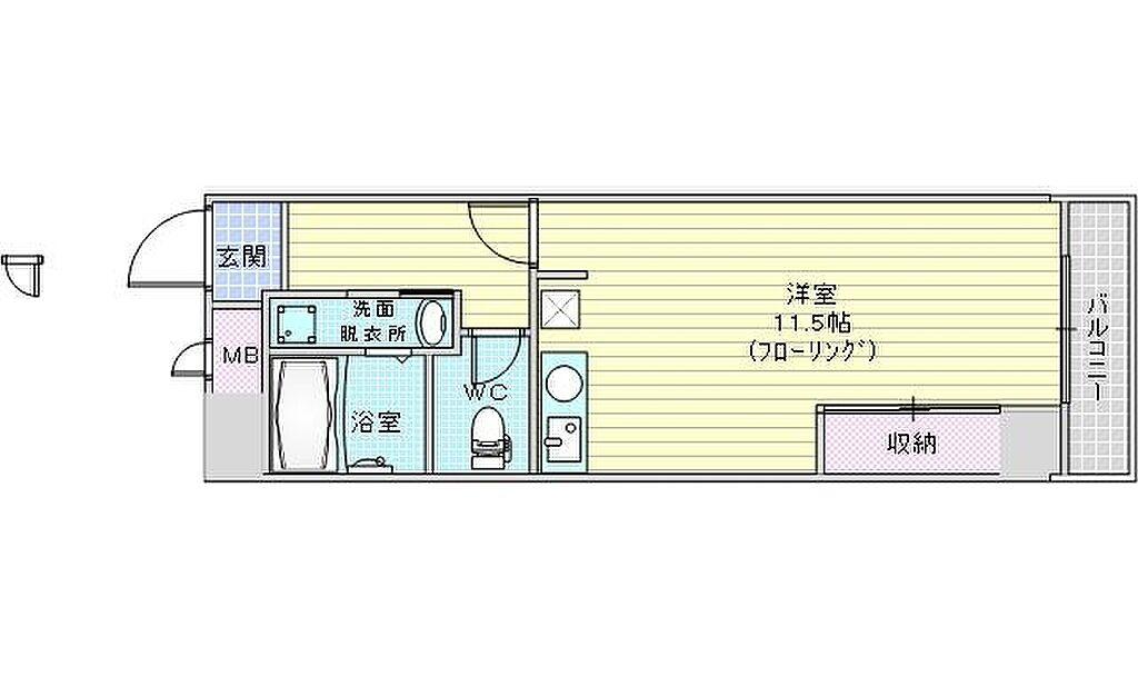 間取り(大阪市北区中崎西。トーカンマンション東梅田)