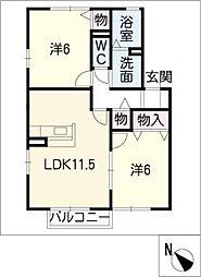 CASA WAKAMATSUB棟[2階]の間取り