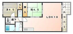 リバージュ[11階]の間取り
