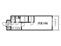 Osaka Metro中央線 森ノ宮駅 徒歩4分の賃貸マンション 3階1Kの間取り