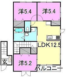ネオハウス マツバラ B棟[B201 号室号室]の間取り