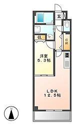 コモド桜山[3階]の間取り