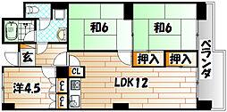 第22プリンスマンション[9階]の間取り