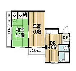東京都江戸川区東葛西1丁目の賃貸マンションの間取り