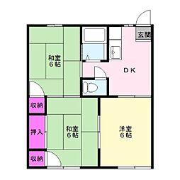 みのりハイツ[2階]の間取り