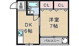 mezon nishiyama ladys[2階]の間取り
