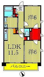 南柏ポラールコート[1階]の間取り