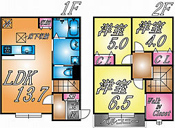 兵庫県神戸市東灘区本山北町5丁目の賃貸アパートの間取り