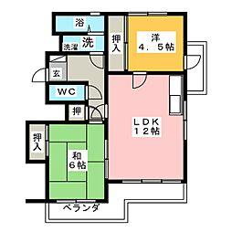 メゾン勝川[2階]の間取り