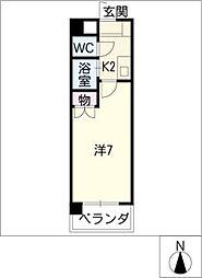セントラルハイツ香呑[2階]の間取り