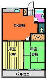 メゾン米倉[303号室]の間取り