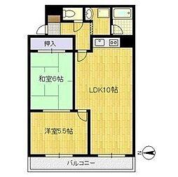 アビタシオン土田[4階]の間取り