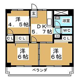 CASA442[4階]の間取り