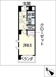 ミ カーサ・キタ[1階]の間取り